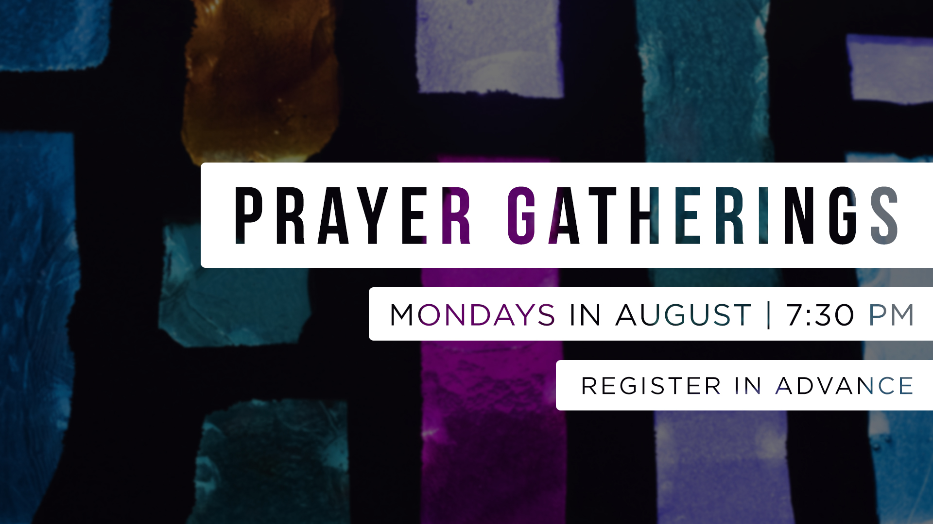 In Person Prayer Gatherings